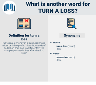 turn a loss, synonym turn a loss, another word for turn a loss, words like turn a loss, thesaurus turn a loss