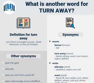 turn away, synonym turn away, another word for turn away, words like turn away, thesaurus turn away