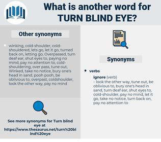 turn blind eye, synonym turn blind eye, another word for turn blind eye, words like turn blind eye, thesaurus turn blind eye