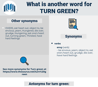 turn green, synonym turn green, another word for turn green, words like turn green, thesaurus turn green