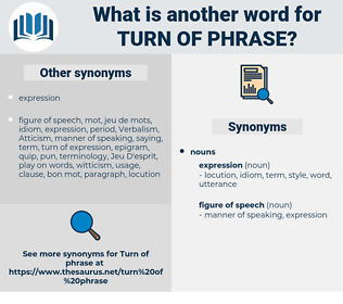 turn of phrase, synonym turn of phrase, another word for turn of phrase, words like turn of phrase, thesaurus turn of phrase