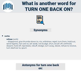 turn one back on, synonym turn one back on, another word for turn one back on, words like turn one back on, thesaurus turn one back on