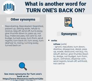 turn one's back on, synonym turn one's back on, another word for turn one's back on, words like turn one's back on, thesaurus turn one's back on