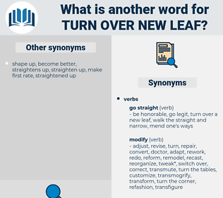 turn over new leaf, synonym turn over new leaf, another word for turn over new leaf, words like turn over new leaf, thesaurus turn over new leaf