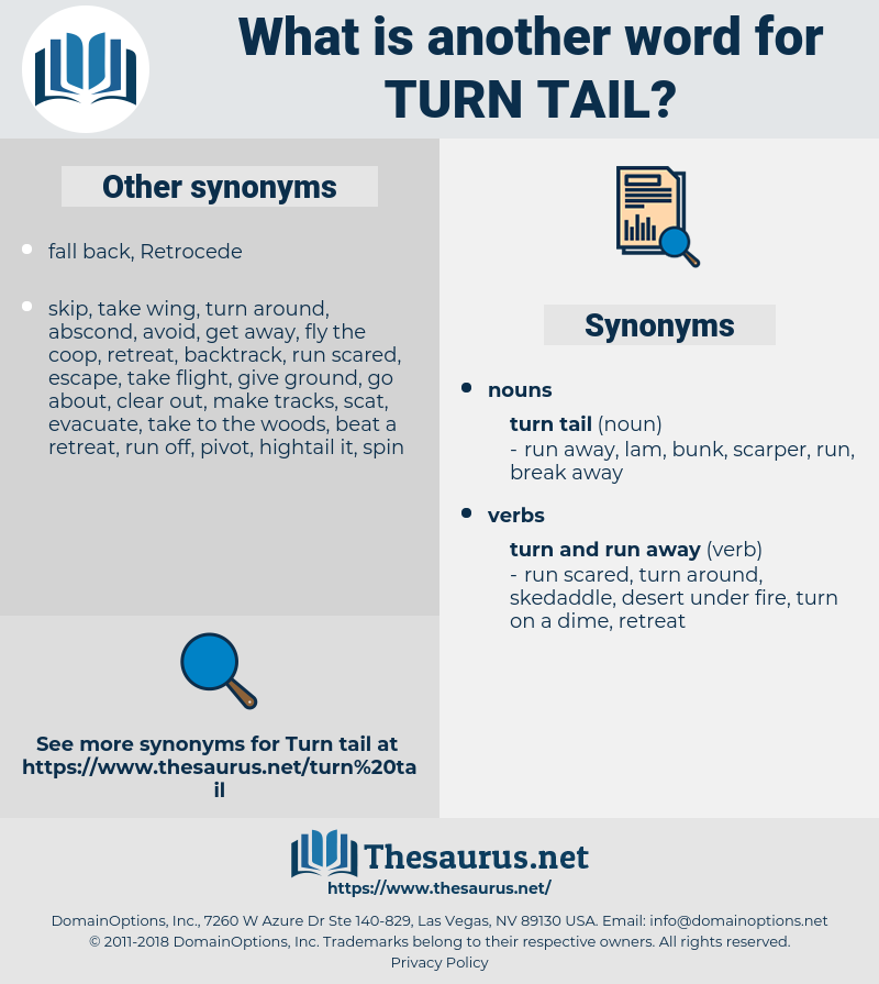 turn tail, synonym turn tail, another word for turn tail, words like turn tail, thesaurus turn tail