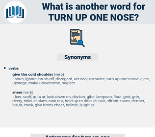 turn up one nose, synonym turn up one nose, another word for turn up one nose, words like turn up one nose, thesaurus turn up one nose