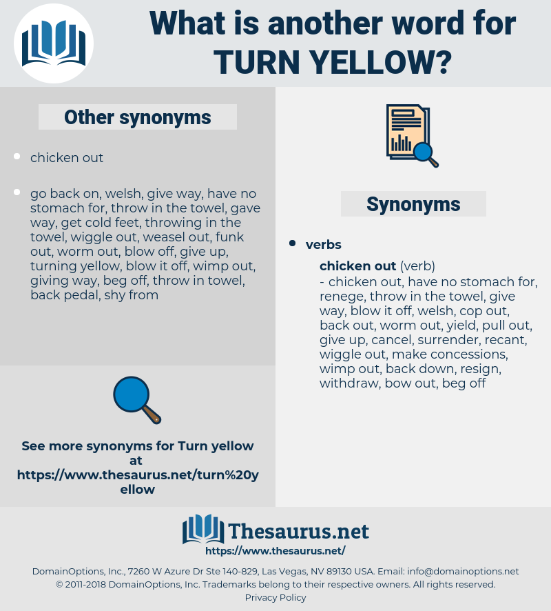 turn yellow, synonym turn yellow, another word for turn yellow, words like turn yellow, thesaurus turn yellow