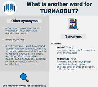 turnabout, synonym turnabout, another word for turnabout, words like turnabout, thesaurus turnabout