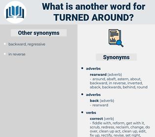 turned around, synonym turned around, another word for turned around, words like turned around, thesaurus turned around