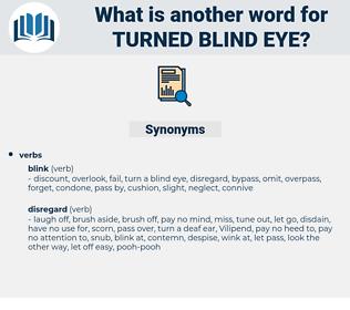 turned blind eye, synonym turned blind eye, another word for turned blind eye, words like turned blind eye, thesaurus turned blind eye