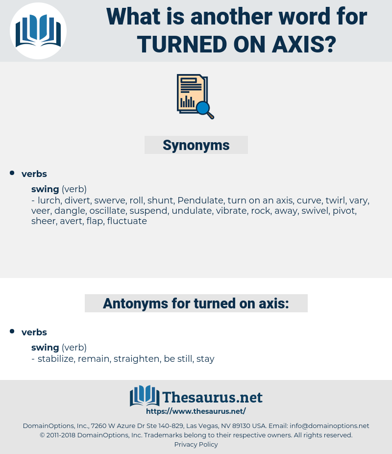 turned on axis, synonym turned on axis, another word for turned on axis, words like turned on axis, thesaurus turned on axis