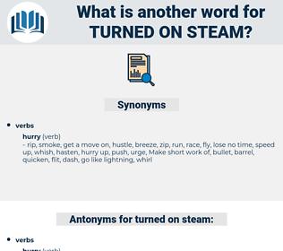 turned on steam, synonym turned on steam, another word for turned on steam, words like turned on steam, thesaurus turned on steam
