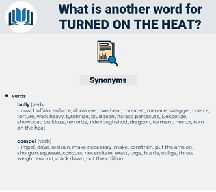 turned on the heat, synonym turned on the heat, another word for turned on the heat, words like turned on the heat, thesaurus turned on the heat