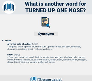 turned up one nose, synonym turned up one nose, another word for turned up one nose, words like turned up one nose, thesaurus turned up one nose