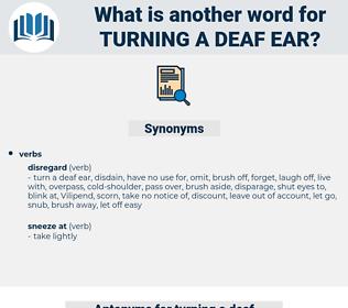 turning a deaf ear, synonym turning a deaf ear, another word for turning a deaf ear, words like turning a deaf ear, thesaurus turning a deaf ear