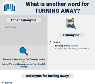 turning away, synonym turning away, another word for turning away, words like turning away, thesaurus turning away