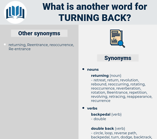turning back, synonym turning back, another word for turning back, words like turning back, thesaurus turning back