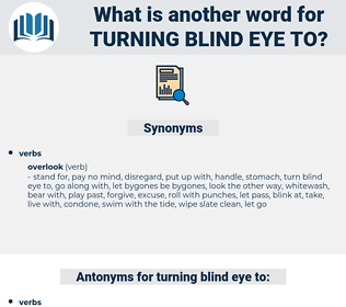 turning blind eye to, synonym turning blind eye to, another word for turning blind eye to, words like turning blind eye to, thesaurus turning blind eye to