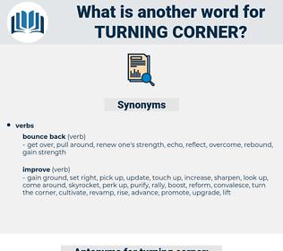 turning corner, synonym turning corner, another word for turning corner, words like turning corner, thesaurus turning corner