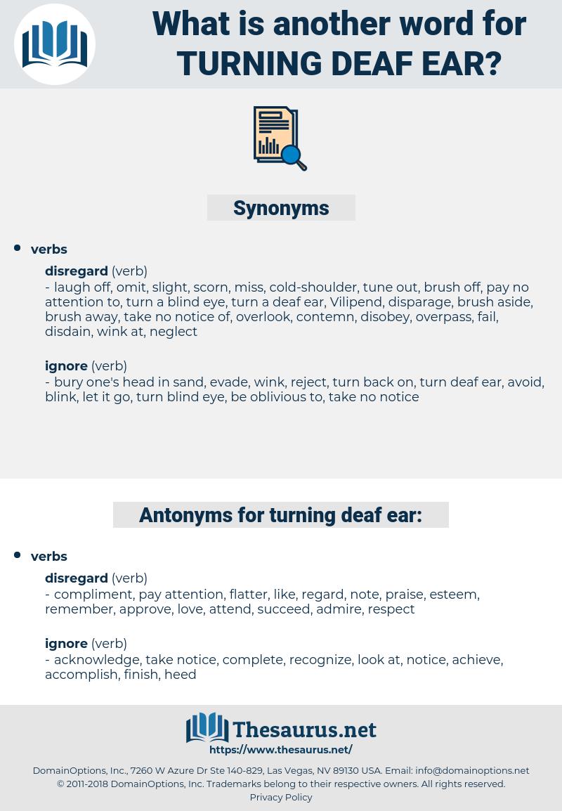 turning deaf ear, synonym turning deaf ear, another word for turning deaf ear, words like turning deaf ear, thesaurus turning deaf ear