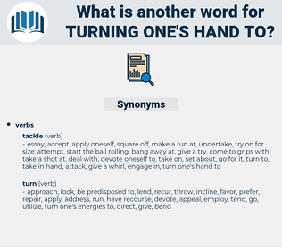 turning one's hand to, synonym turning one's hand to, another word for turning one's hand to, words like turning one's hand to, thesaurus turning one's hand to