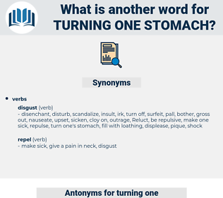 turning one stomach, synonym turning one stomach, another word for turning one stomach, words like turning one stomach, thesaurus turning one stomach