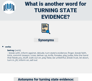 turning state evidence, synonym turning state evidence, another word for turning state evidence, words like turning state evidence, thesaurus turning state evidence