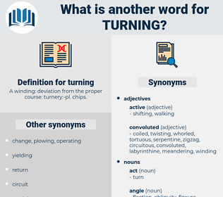 turning, synonym turning, another word for turning, words like turning, thesaurus turning