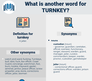 turnkey, synonym turnkey, another word for turnkey, words like turnkey, thesaurus turnkey