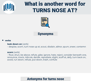turns nose at, synonym turns nose at, another word for turns nose at, words like turns nose at, thesaurus turns nose at