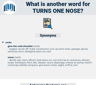 turns one nose, synonym turns one nose, another word for turns one nose, words like turns one nose, thesaurus turns one nose