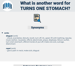 turns one stomach, synonym turns one stomach, another word for turns one stomach, words like turns one stomach, thesaurus turns one stomach