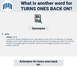 turns ones back on, synonym turns ones back on, another word for turns ones back on, words like turns ones back on, thesaurus turns ones back on