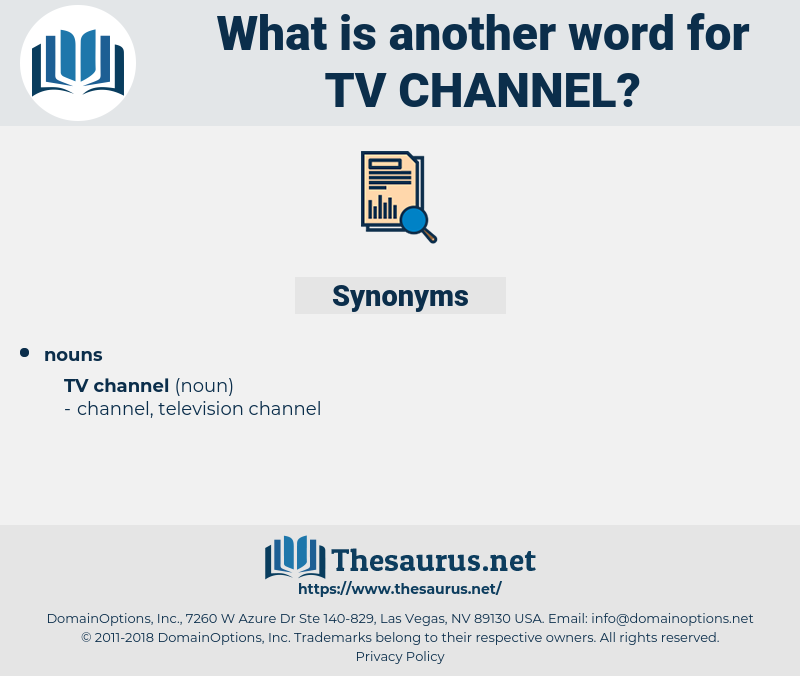 Synonyms for TV CHANNEL - Thesaurus net