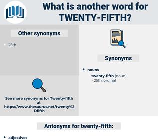 twenty-fifth, synonym twenty-fifth, another word for twenty-fifth, words like twenty-fifth, thesaurus twenty-fifth
