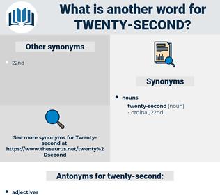 twenty-second, synonym twenty-second, another word for twenty-second, words like twenty-second, thesaurus twenty-second