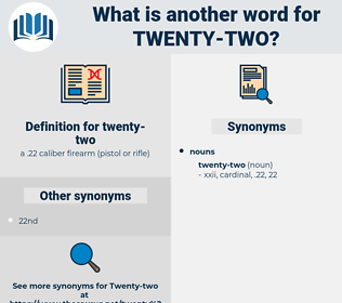 twenty-two, synonym twenty-two, another word for twenty-two, words like twenty-two, thesaurus twenty-two