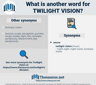 twilight vision, synonym twilight vision, another word for twilight vision, words like twilight vision, thesaurus twilight vision