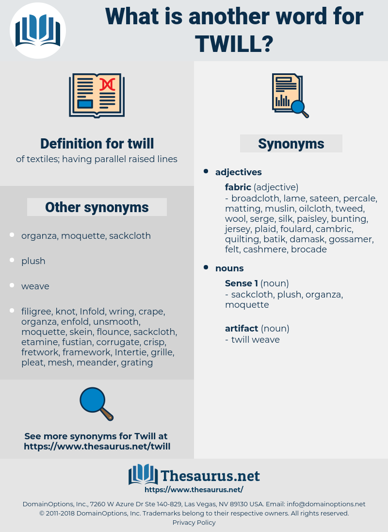 twill, synonym twill, another word for twill, words like twill, thesaurus twill