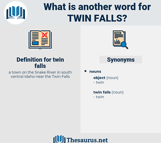 twin falls, synonym twin falls, another word for twin falls, words like twin falls, thesaurus twin falls