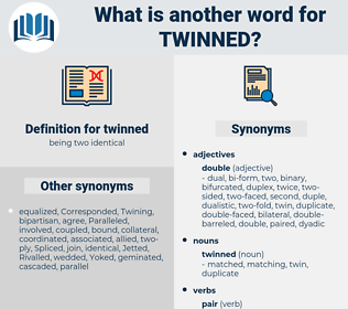 twinned, synonym twinned, another word for twinned, words like twinned, thesaurus twinned