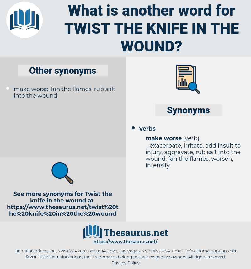 twist the knife in the wound, synonym twist the knife in the wound, another word for twist the knife in the wound, words like twist the knife in the wound, thesaurus twist the knife in the wound