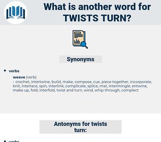 twists turn, synonym twists turn, another word for twists turn, words like twists turn, thesaurus twists turn