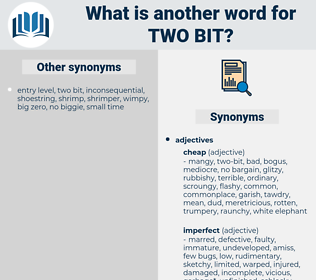 two bit, synonym two bit, another word for two bit, words like two bit, thesaurus two bit