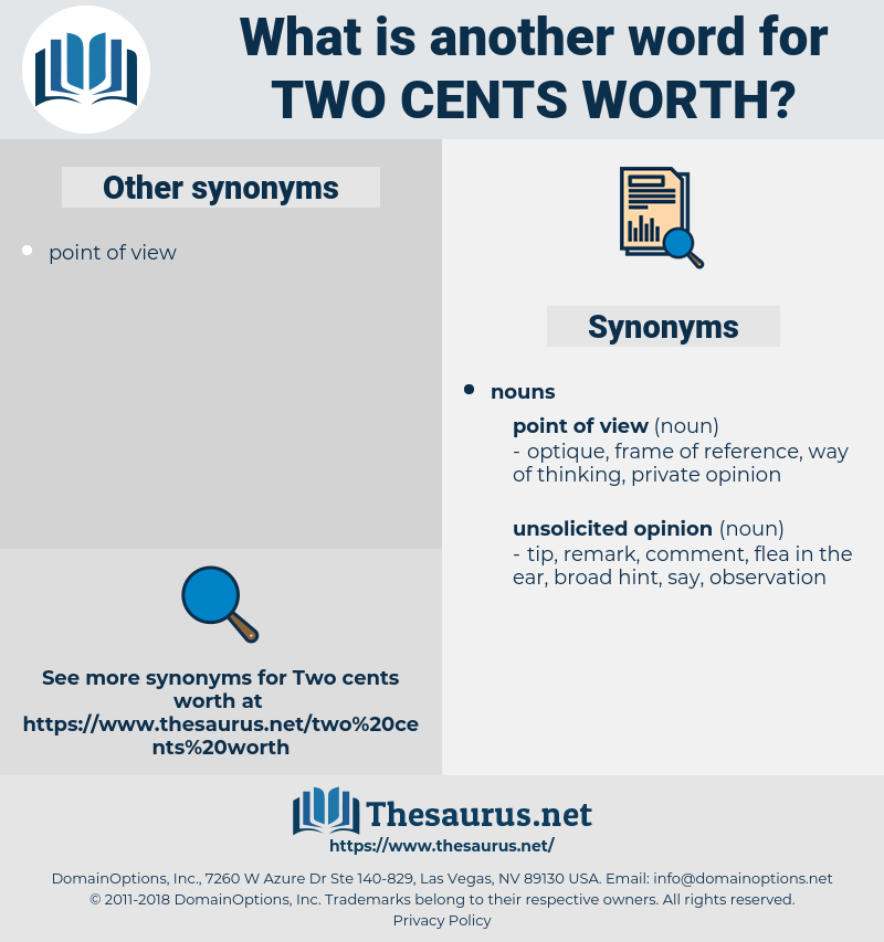 two cents' worth, synonym two cents' worth, another word for two cents' worth, words like two cents' worth, thesaurus two cents' worth