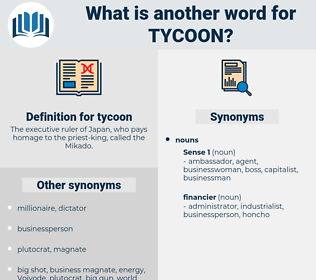 tycoon, synonym tycoon, another word for tycoon, words like tycoon, thesaurus tycoon