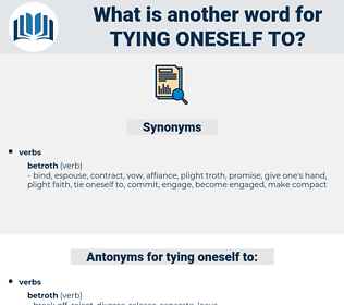 tying oneself to, synonym tying oneself to, another word for tying oneself to, words like tying oneself to, thesaurus tying oneself to