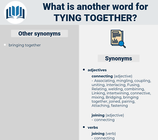 tying together, synonym tying together, another word for tying together, words like tying together, thesaurus tying together