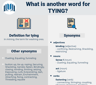 tying, synonym tying, another word for tying, words like tying, thesaurus tying