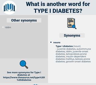 type i diabetes, synonym type i diabetes, another word for type i diabetes, words like type i diabetes, thesaurus type i diabetes